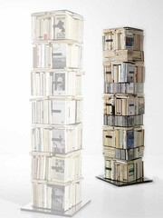 Bücher- und CD-Säule Ptolomeo X4