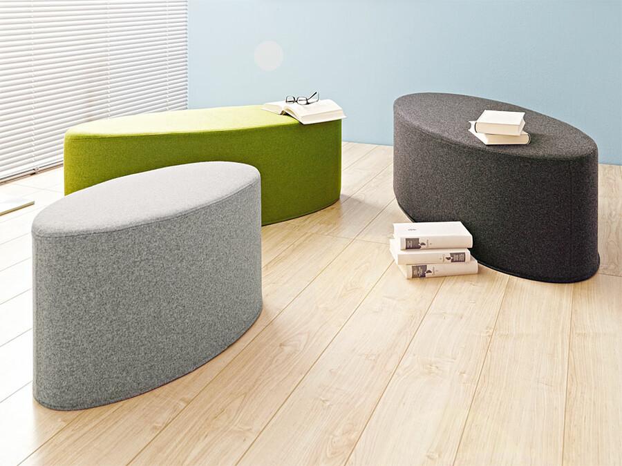 hocker bon bon filzhocker sofort lieferbar ab lager. Black Bedroom Furniture Sets. Home Design Ideas